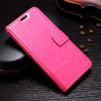 Wallet PU kožené knížkové pouzdro na Lenovo Moto G5s - rose