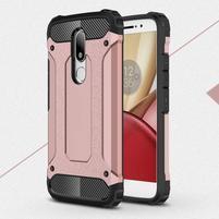 Armory gelový obal na mobil Lenovo Moto M - růžovozlatý