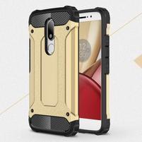 Armory gelový obal na mobil Lenovo Moto M - zlatý
