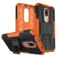 Outdoor odolný obal na mobil Lenovo Moto M - oranžový