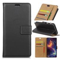 Wallet PU kožené zapínací pouzdro na Lenovo Moto X4 - černé
