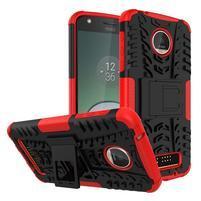 Outdoor odolný obal na mobil Lenovo Moto Z Play - červený