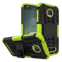 Outdoor odolný obal na mobil Lenovo Moto Z Play - zelený