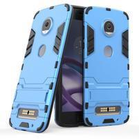 Defender odolný obal na Lenovo Moto Z2 Play - modrý