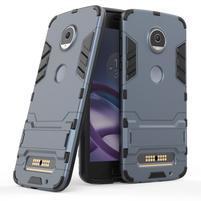 Defender odolný obal na Lenovo Moto Z2 Play - šedomodrý