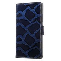 Snake PU kožené pouzdro na mobil Lenovo P2 - modré
