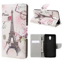Emotive peněženkové pouzdro na mobil Lenovo P2 - Eiffelova věž
