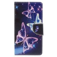 Emotive peněženkové pouzdro na mobil Lenovo P2 - kouzelní motýlci