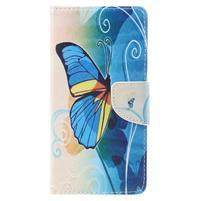 Emotive peněženkové pouzdro na mobil Lenovo P2 - motýlek