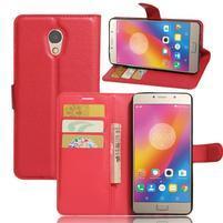 Grianes PU kožené pouzdro na mobil Lenovo P2 - červené