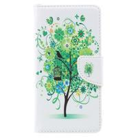 Emotive peněženkové pouzdro na mobil Lenovo P2 - zelený strom