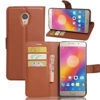Grianes PU kožené pouzdro na mobil Lenovo P2 - hnědé