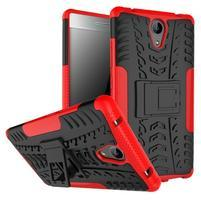 Outdoor odolný obal na mobil Lenovo Phab 2 - červený