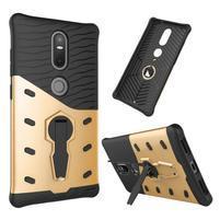 Defender odolný obal na telefon Lenovo Phab 2 Plus - zlatý