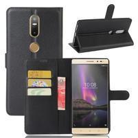 Graines PU kožené pouzdro na mobil Lenovo Phab 2 Plus - černé