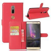 Graines PU kožené pouzdro na mobil Lenovo Phab 2 Plus - červené