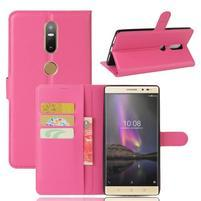Graines PU kožené pouzdro na mobil Lenovo Phab 2 Plus - rose
