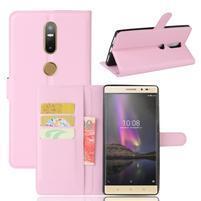 Graines PU kožené pouzdro na mobil Lenovo Phab 2 Plus - růžové