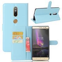 Graines PU kožené pouzdro na mobil Lenovo Phab 2 Plus - modré