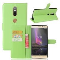 Graines PU kožené pouzdro na mobil Lenovo Phab 2 Plus - zelené
