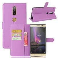 Graines PU kožené pouzdro na mobil Lenovo Phab 2 Plus - fialové