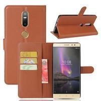 Graines PU kožené pouzdro na mobil Lenovo Phab 2 Plus - hnědé