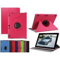 Otočné PU kožené pouzdro na Lenovo Tab 3 10 Plus - rose