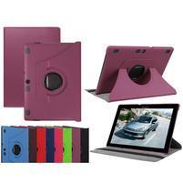 Otočné PU kožené pouzdro na Lenovo Tab 3 10 Plus - fialové