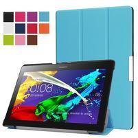Trifold polohovatelné zapínací pouzdro na Lenovo Tab 3 10 Plus - modré