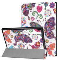 Emotive PU kožené pouzdro na Lenovo Tab 4 10 - motýlci