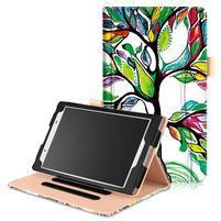 Emotive zapínací pouzdro na Lenovo Tab 4 8 - barevný strom
