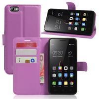Grain peněženkové pouzdro na mobil Lenovo Vibe C A2020 - fialové