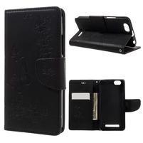 Butterfly knížkové pouzdro na mobil Lenovo Vibe C A2020 - černé