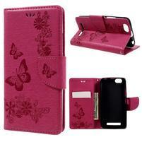 Butterfly knížkové pouzdro na mobil Lenovo Vibe C A2020 - rose