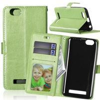 Fashion PU kožené pouzdro na mobil Lenovo Vibe C A2020 - zelené