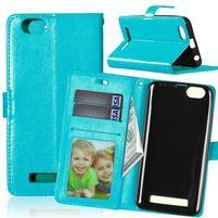 Fashion PU kožené pouzdro na mobil Lenovo Vibe C A2020 - modré