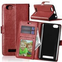 Fashion PU kožené pouzdro na mobil Lenovo Vibe C A2020 - hnědé