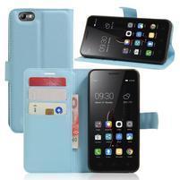 Grain peněženkové pouzdro na mobil Lenovo Vibe C A2020 - světlemodré