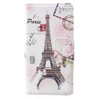 Emotive zapínací peněženkové pouzdro na Lenovo C2 - Eiffelova věž