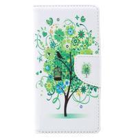 Emotive zapínací peněženkové pouzdro na Lenovo C2 - zelený strom