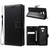 Butterfly PU kožené pouzdro na mobil LG G6 - černé