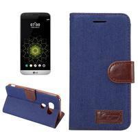 Jeans peněženkové pouzdro na LG G6 - tmavěmodré