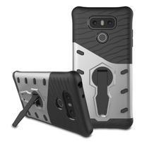 Defender odolný obal na mobil LG G6 - stříbrný