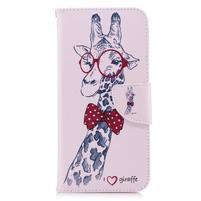 Emotive peněženkové pouzdro na mobil LG G7 ThinQ- žirafa