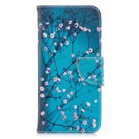 Emotive peněženkové pouzdro na mobil LG G7 ThinQ - kvetoucí strom