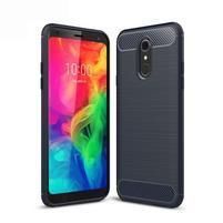 Fiber odolný silikonový kryt na mobil LG Q7 - tmavěmodrý