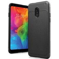 IVS odolný silikonový kryt s texturou na mobil LG Q7 - černý