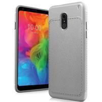 IVS odolný silikonový kryt s texturou na mobil LG Q7 - šedý