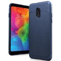 IVS odolný silikonový kryt s texturou na mobil LG Q7 - tmavěmodrý