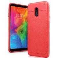 IVS odolný silikonový kryt s texturou na mobil LG Q7 - červený